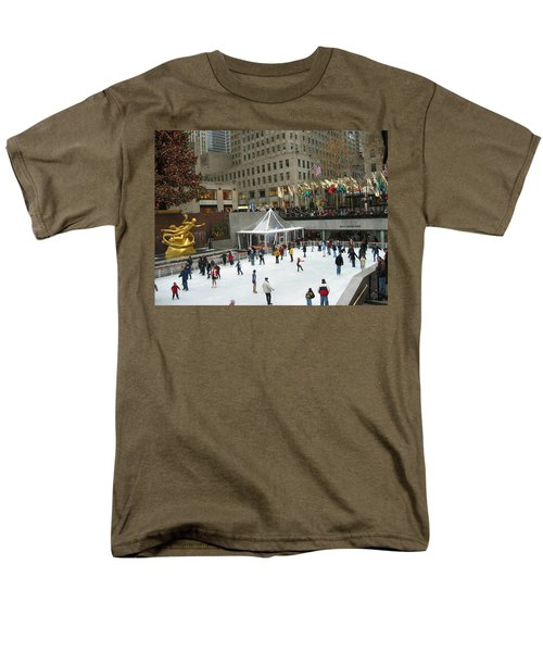 Skating In Rockefeller Center Men's T-Shirt  (Regular Fit) by Judith Morris