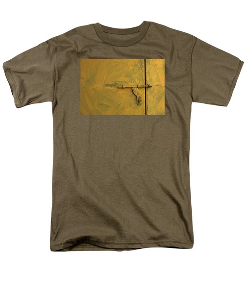 Men's T-Shirt  (Regular Fit) featuring the photograph Skc 0047 The Door Latch by Sunil Kapadia