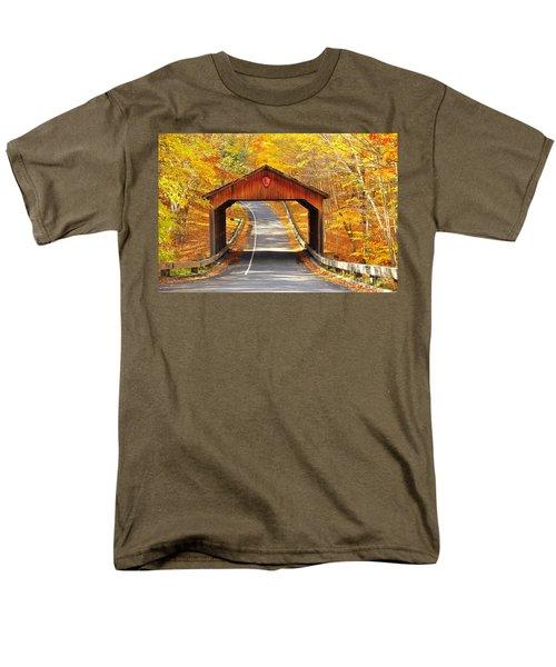 Sleeping Bear National Lakeshore Covered Bridge Men's T-Shirt  (Regular Fit) by Terri Gostola
