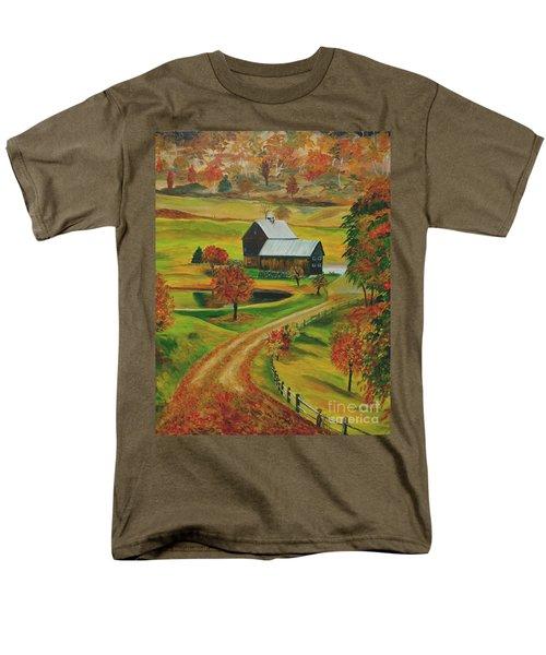 Sleepy Hollow Farm Men's T-Shirt  (Regular Fit) by Julie Brugh Riffey