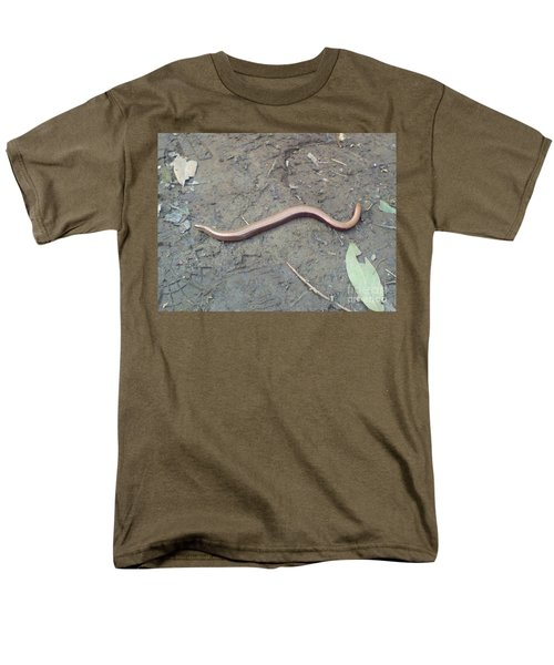 Men's T-Shirt  (Regular Fit) featuring the photograph Slow Worm by John Williams