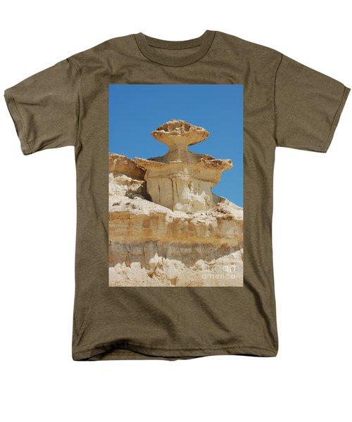 Smiling Stone Man Men's T-Shirt  (Regular Fit) by Linda Prewer