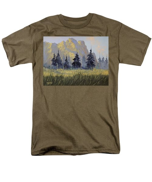 Men's T-Shirt  (Regular Fit) featuring the painting Smith Rock Oregon by Richard Faulkner