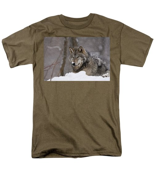 Snow Nose Men's T-Shirt  (Regular Fit) by Wolves Only