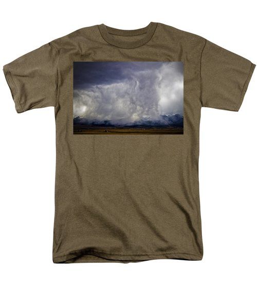 Snow On The Rockies Men's T-Shirt  (Regular Fit) by Greg Reed
