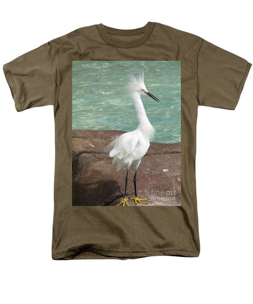 Snowy Egret Men's T-Shirt  (Regular Fit) by DejaVu Designs