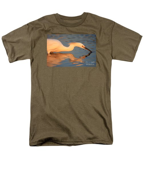 Men's T-Shirt  (Regular Fit) featuring the photograph Snowy Egret Mirror by John F Tsumas