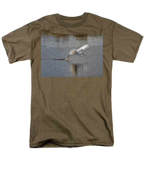 Men's T-Shirt  (Regular Fit) featuring the photograph Snowy Egret Wind Sailing by John M Bailey