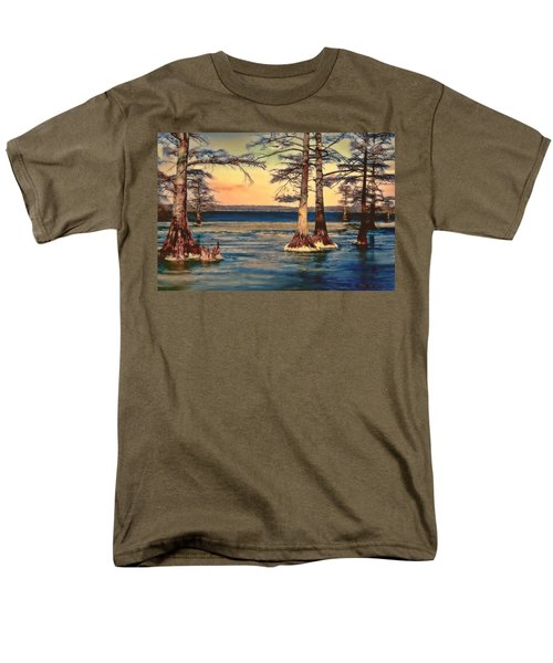Snowy Reelfoot Men's T-Shirt  (Regular Fit) by Bonnie Willis
