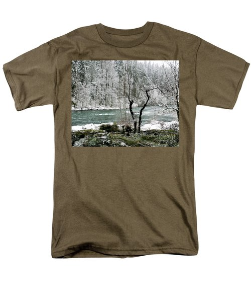 Men's T-Shirt  (Regular Fit) featuring the photograph Snowy River And Bank by Belinda Greb