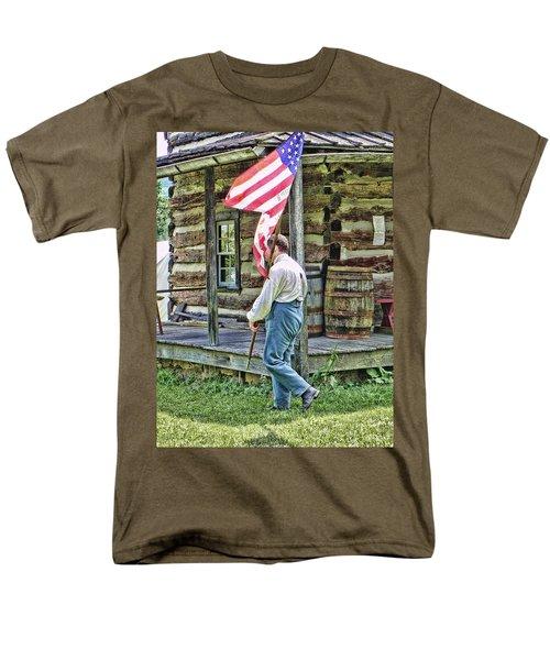Soldier At Bedford Village Pa Men's T-Shirt  (Regular Fit) by Kathy Churchman
