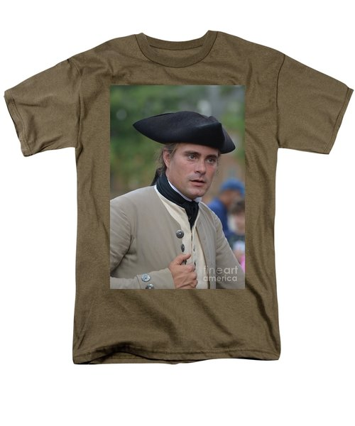Soldier In Colonial Williamsburg Men's T-Shirt  (Regular Fit) by DejaVu Designs