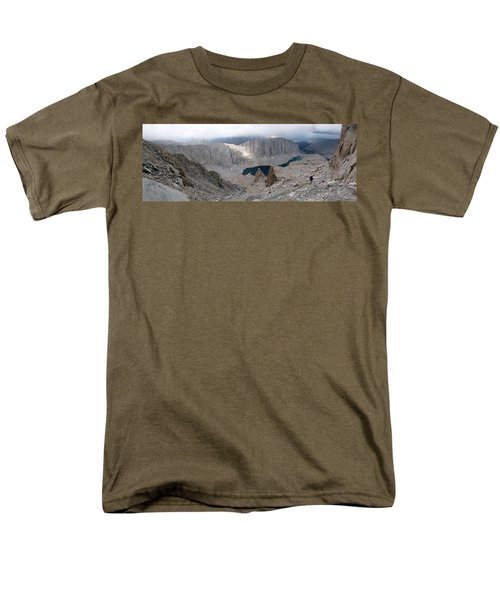 Solitary Hiker Panorama Men's T-Shirt  (Regular Fit) by Alan Socolik