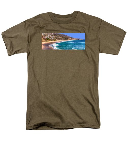 Men's T-Shirt  (Regular Fit) featuring the photograph South Laguna Beach Coast by Jim Carrell