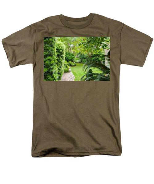 Men's T-Shirt  (Regular Fit) featuring the photograph Southern Garden Charleston South Carolina by Vizual Studio