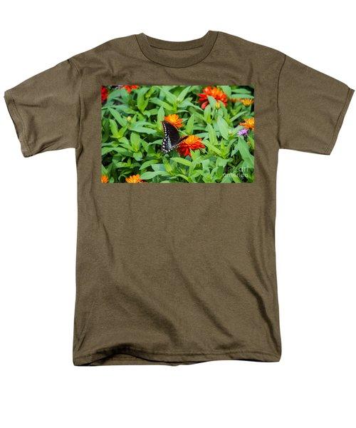 Spicebush Swallowtail Men's T-Shirt  (Regular Fit) by Angela DeFrias