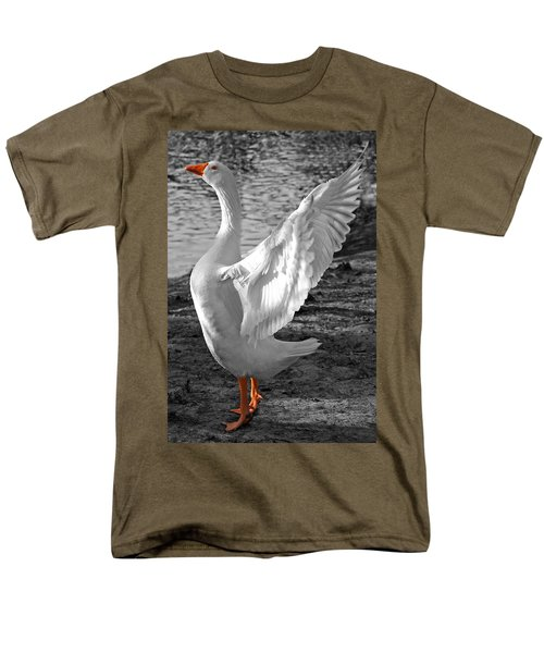 Spread Your Wings B And W Men's T-Shirt  (Regular Fit) by Lisa Phillips