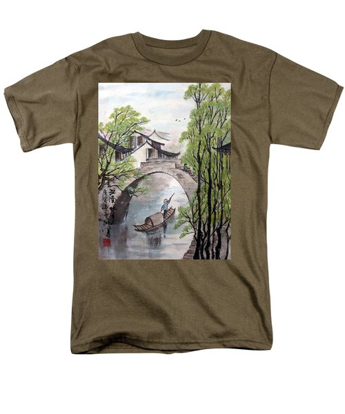 Men's T-Shirt  (Regular Fit) featuring the photograph Spring In Ancient Watertown by Yufeng Wang