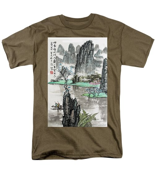 Men's T-Shirt  (Regular Fit) featuring the photograph Spring River II by Yufeng Wang