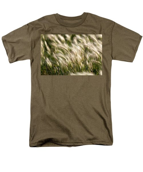 Men's T-Shirt  (Regular Fit) featuring the photograph Squirrel Grass by Fran Riley