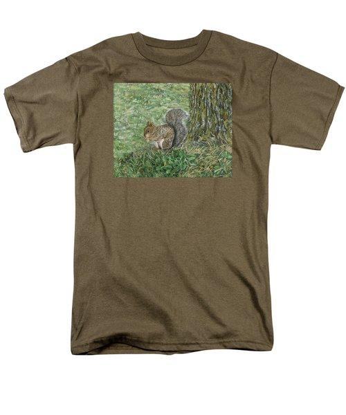 Squirrel Men's T-Shirt  (Regular Fit) by Lucinda V VanVleck