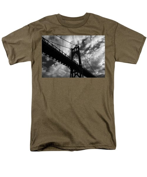 St Johns Bridge Men's T-Shirt  (Regular Fit) by Wes and Dotty Weber