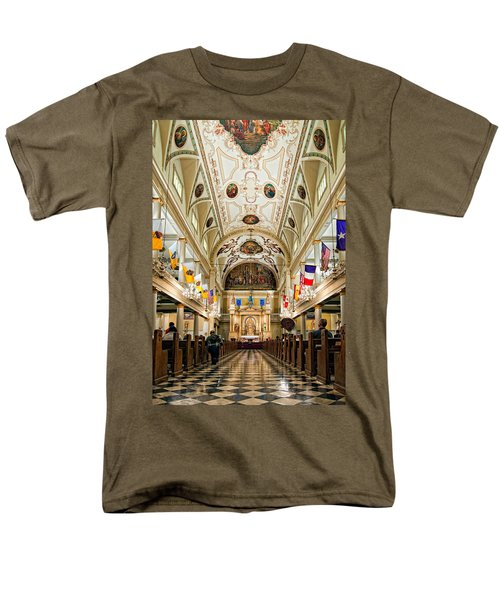 St. Louis Cathedral Men's T-Shirt  (Regular Fit) by Steve Harrington