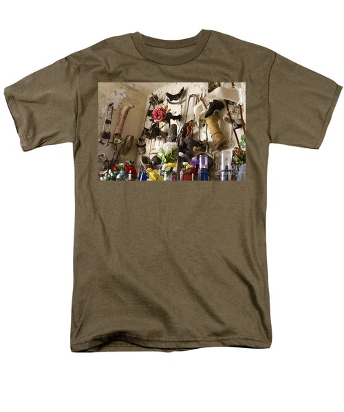 Men's T-Shirt  (Regular Fit) featuring the photograph New Orleans St Roch Cemetery by Luana K Perez