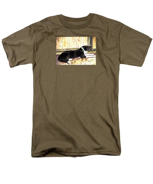 Men's T-Shirt  (Regular Fit) featuring the painting Stable Duty by Angela Davies