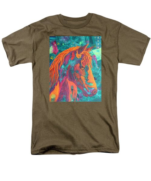 Men's T-Shirt  (Regular Fit) featuring the painting Stable Master by Nancy Jolley