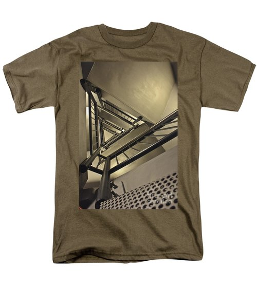 Men's T-Shirt  (Regular Fit) featuring the photograph Stairing Up The Spinnaker Tower by Terri Waters