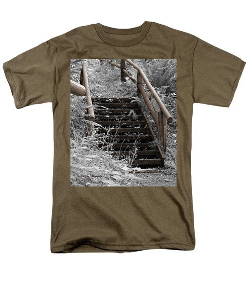 Men's T-Shirt  (Regular Fit) featuring the photograph Stairway Home by Jeanette C Landstrom