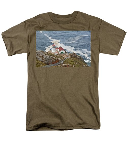 Men's T-Shirt  (Regular Fit) featuring the photograph Stairway Leading To Point Reyes Lighthouse by Jeff Goulden