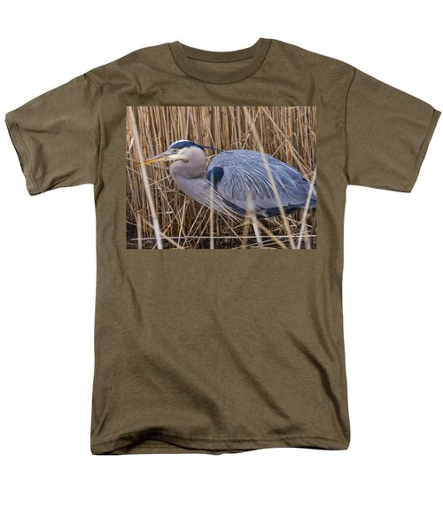 Stalking Fish In The Reeds Men's T-Shirt  (Regular Fit) by Allan Levin