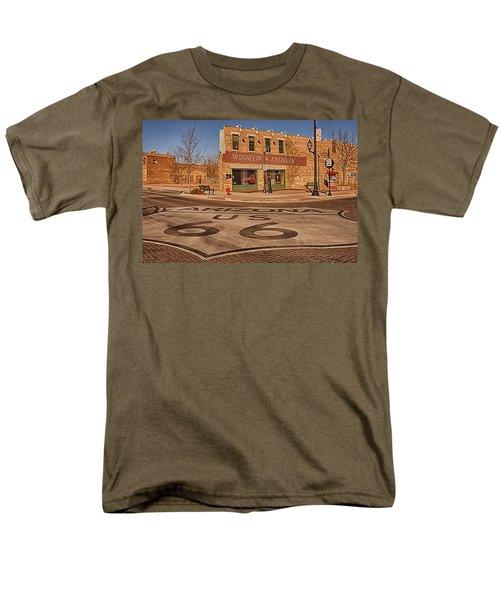 Standin' On The Corner Park Men's T-Shirt  (Regular Fit) by Priscilla Burgers