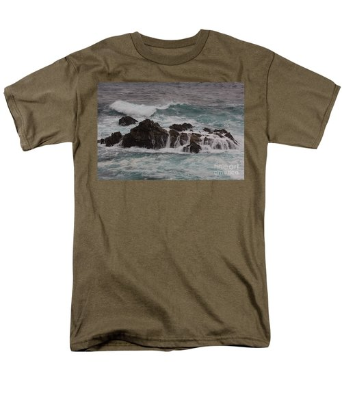 Standing Up To The Waves Men's T-Shirt  (Regular Fit) by Suzanne Luft