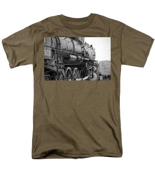 Steam Locomotive 1519 - Bw 02 Men's T-Shirt  (Regular Fit) by Pamela Critchlow