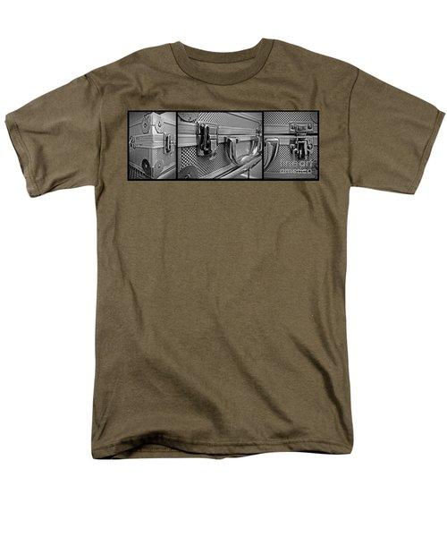 Men's T-Shirt  (Regular Fit) featuring the photograph Steel Box - Triptych by James Aiken