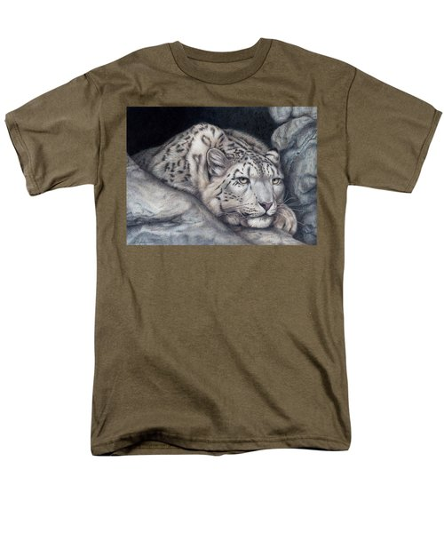 Men's T-Shirt  (Regular Fit) featuring the painting Stillnes Like A Stone by Pat Erickson