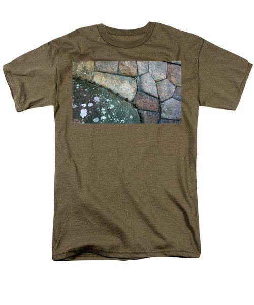 Stitched Stones Men's T-Shirt  (Regular Fit) by Leena Pekkalainen