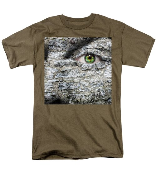 Stone Face Men's T-Shirt  (Regular Fit) by Semmick Photo