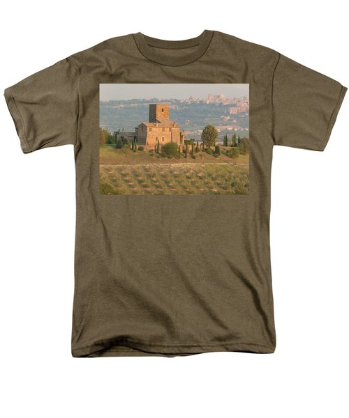 Men's T-Shirt  (Regular Fit) featuring the photograph Stone Farmhouse by Marcia Socolik