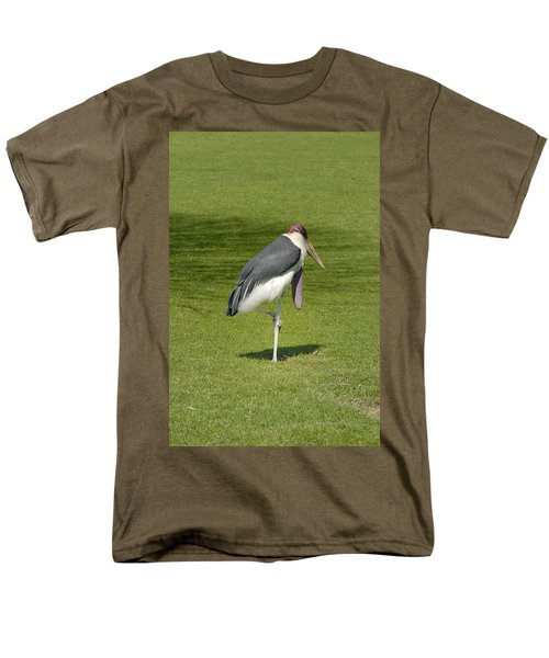 Men's T-Shirt  (Regular Fit) featuring the photograph Stork by Charles Beeler