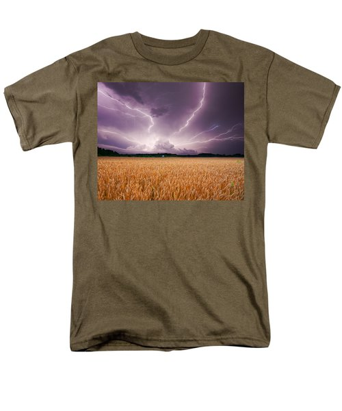 Storm Over Wheat Men's T-Shirt  (Regular Fit) by Alexey Stiop