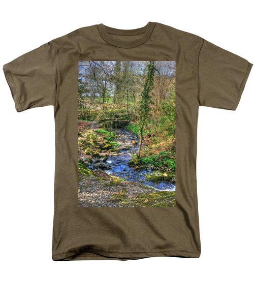 Men's T-Shirt  (Regular Fit) featuring the photograph Stream In Wales by Doc Braham