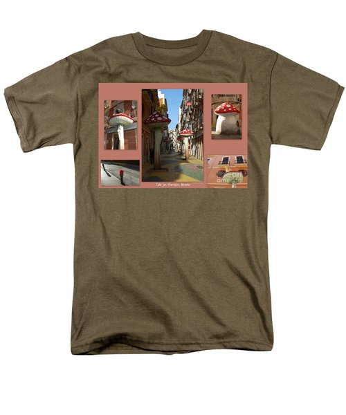 Street Of Giant Mushrooms Men's T-Shirt  (Regular Fit) by Linda Prewer