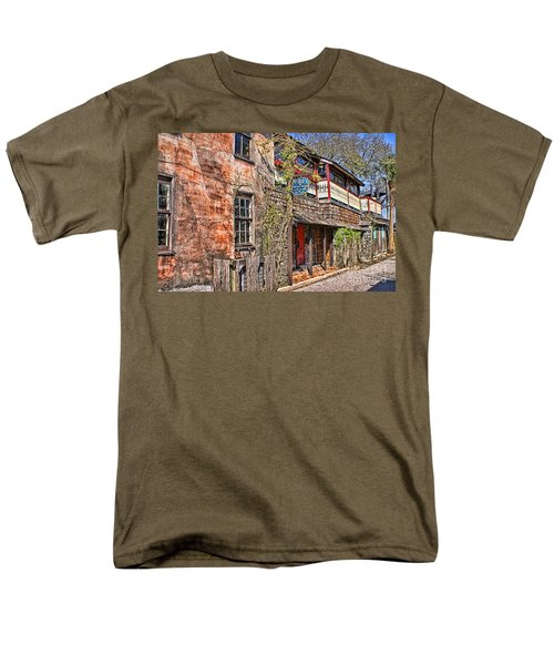 Men's T-Shirt  (Regular Fit) featuring the photograph Streets Of St Augustine Florida by Olga Hamilton