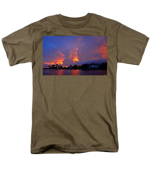 Men's T-Shirt  (Regular Fit) featuring the photograph Strike Up The Middle At Sunset by Jeff at JSJ Photography