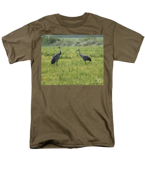 Men's T-Shirt  (Regular Fit) featuring the photograph Strolling Cranes by Debbie Hart