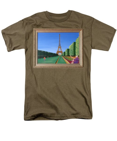 Men's T-Shirt  (Regular Fit) featuring the painting Summer In Paris by Ron Davidson